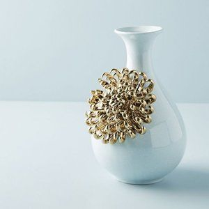 NEW Anthropologie Ceramic Bloom Chrysanthemum Vase